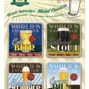 Bier thema onderzetters 9 x 9 cm
