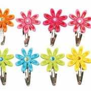 Haarspeldjes met bloemen 12 stuks