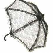 Zwarte paraplu van kant 70 cm