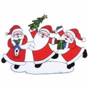 Raamsticker kerstmannen 40 x 27 cm