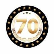 Luxe 70 jarige bierviltjes
