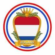 Hollands wapen thema bierviltjes