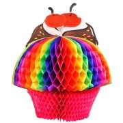 Decoratie bol cupcake 20 cm
