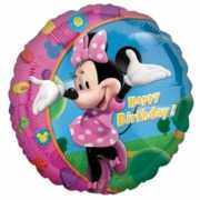 Minnie Mouse folie ballonnen Happy Birthday