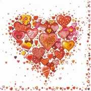 Papieren servetten Love 20 stuks