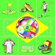 Papieren servetten voetbal thema 20 st