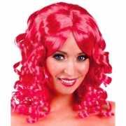 Golvende glamour pruik rood voor dames