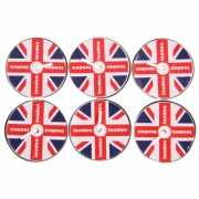 Waxinelichtjes Engelse vlag 6 stuks