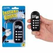Button met publiek geluiden