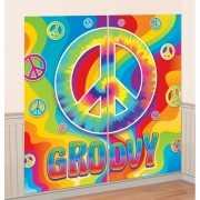 Hippie muurdecoratie 165 x 82 cm
