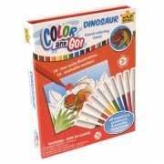 Dinosaurus kleurboeken met stiften