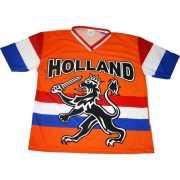 Nederland supporters t shirt met zwarte leeuw en vlag