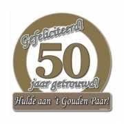 Huldeborden 50 jaar getrouwd
