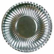 Metallic zilveren borden 29 cm