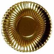 Grote metallic gouden bordjes 29 cm