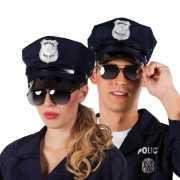 Politie bril met zwarte glazen