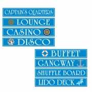 Cruise schip decoratie bordjes 4 stuks