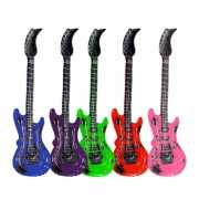 Opblaas elektrische gitaar blauw