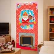 Sinterklaas wanddecoratie poster 80 x 180 cm