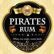 Piraten rum flessen etiket