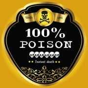 Flessen etiket voor gif