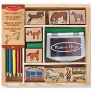 Houten stempelsetje paarden