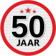 Ronde 50 jaar sticker
