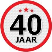 Ronde 40 jaar sticker