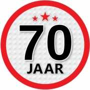 Ronde 70 jaar sticker
