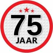 Ronde 75 jaar sticker