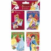 Disney Princess kerstkaartjes 6 stuks