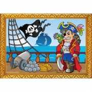 Piraten thema poster Piratenboot