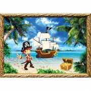 Piraten thema poster kapitein