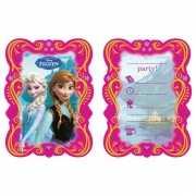 Frozen uitnodigingen met enveloppe