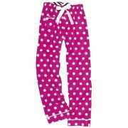 Fuchsia polka dot loungebroek