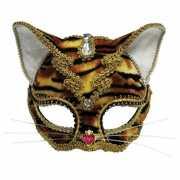 Gouden tijger masker met juwelen