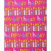 Verjaardagscadeau inpakpapier happy birthday