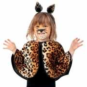 Peuter poncho met luipaard print