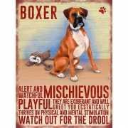 Metalen wand bord Boxer