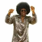 Disco verkleedkleding zilver overhemd
