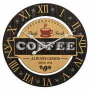 Wandklok koffie zwart 40 cm