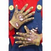 Halloween handschoenen zombie