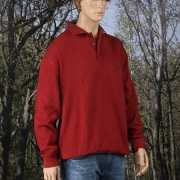 Polosweater grote maten rood