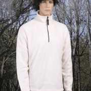 Heren fleece sweater naturel