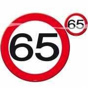 Placemats en onderzetters 65 jaar