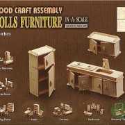 Houten poppenhuis meubels keuken