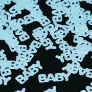 Geboorte jongen confetti babyblauw