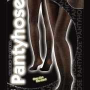 Glansende panty in het zwart