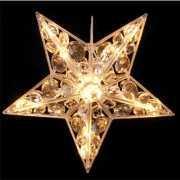 Kerstdecoratie ster met lichtjes