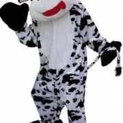 Pluche koeien kostuum zwart en wit